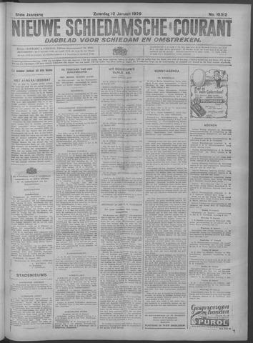 Nieuwe Schiedamsche Courant 1929-01-12