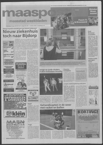 Maaspost / Maasstad / Maasstad Pers 2000-10-04
