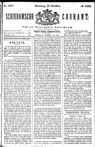 Schiedamsche Courant 1881-10-10