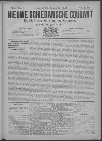 Nieuwe Schiedamsche Courant 1892-08-23
