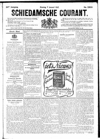 Schiedamsche Courant 1912-01-07