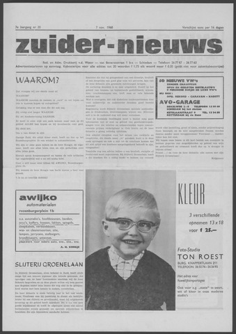 Zuider Nieuws 1968-11-07