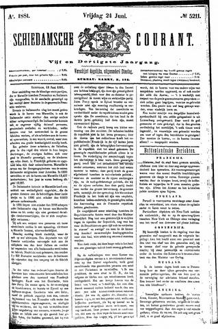 Schiedamsche Courant 1881-06-24