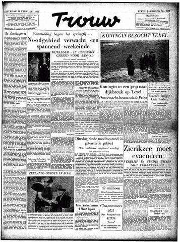 Trouw / De Rotterdammer 1953-02-14