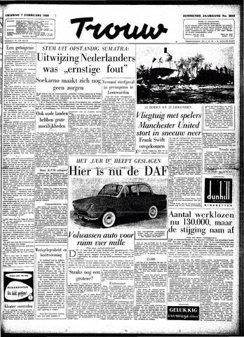Trouw / De Rotterdammer 1958-02-07
