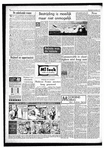 Rotterdamsch Parool / De Schiedammer 1957-11-02