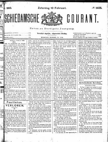 Schiedamsche Courant 1883-02-10