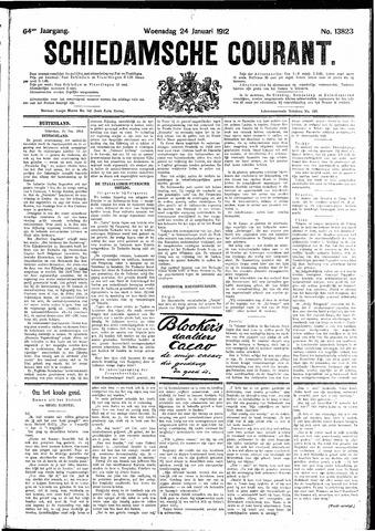Schiedamsche Courant 1912-01-24