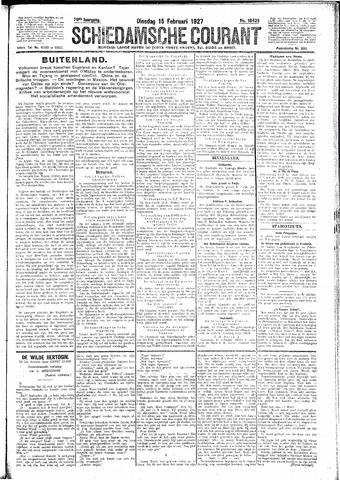 Schiedamsche Courant 1927-02-15