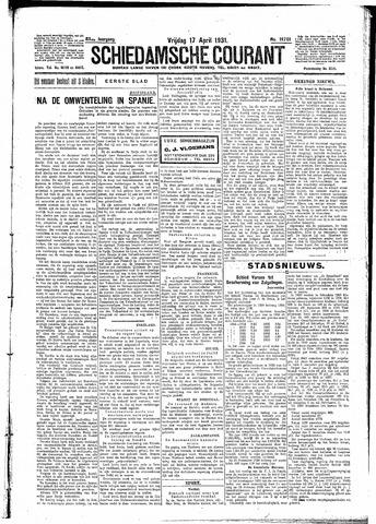 Schiedamsche Courant 1931-04-17