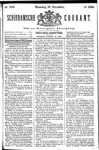 Schiedamsche Courant 1881-11-28