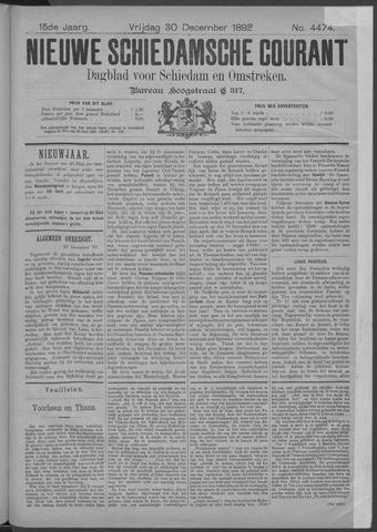 Nieuwe Schiedamsche Courant 1892-12-30