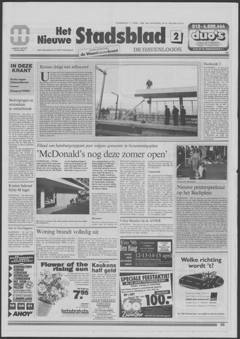 Het Nieuwe Stadsblad 1996-04-11