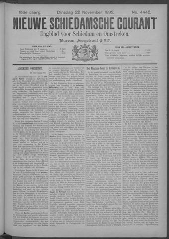 Nieuwe Schiedamsche Courant 1892-11-22