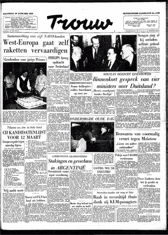 Trouw / De Rotterdammer 1959-01-19