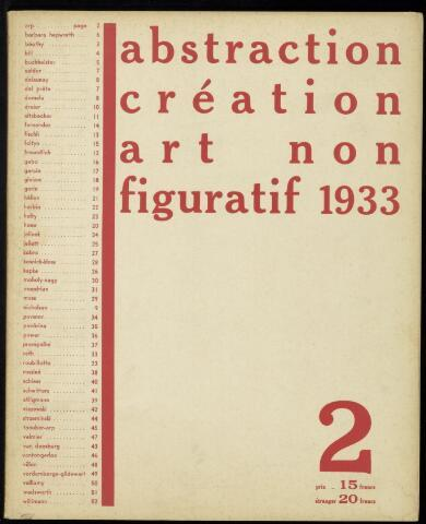 Abstraction création art non figuratif fr 1933