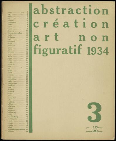 Abstraction création art non figuratif fr 1934