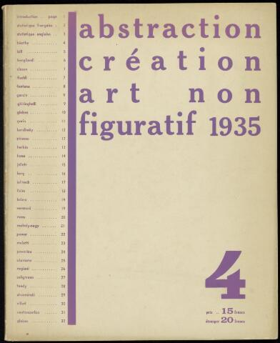 Abstraction création art non figuratif fr 1935