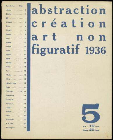 Abstraction création art non figuratif fr 1936
