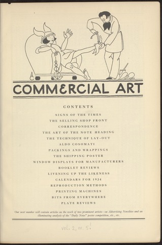 Commercial Art / Art and Industry en 1924