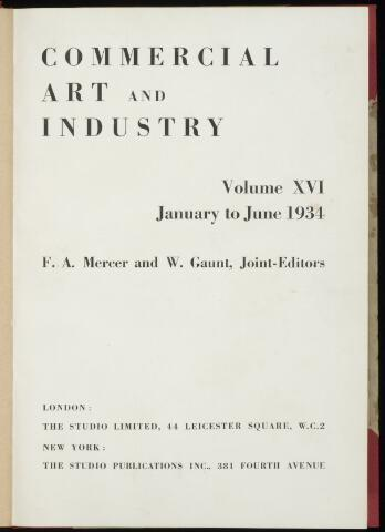 Commercial Art / Art and Industry en 1934