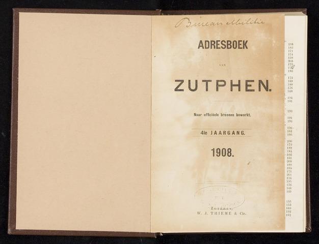 Adresboeken Zutphen (1863-1967) 1908-12-31