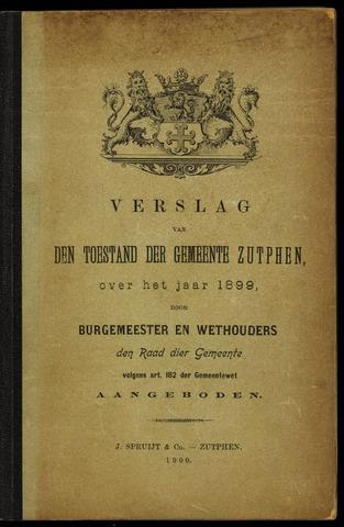 Jaarverslagen gemeente Zutphen 1899-12-31