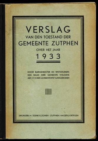 Jaarverslagen gemeente Zutphen (1851-1945) 1933-12-31