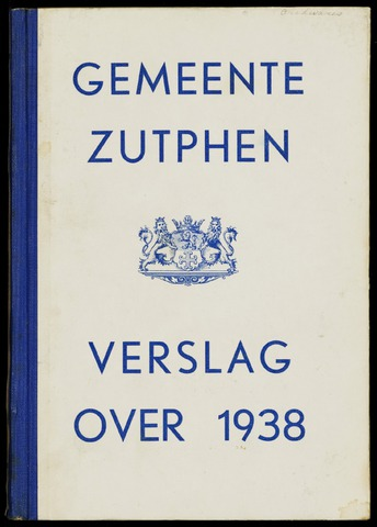 Jaarverslagen gemeente Zutphen 1938-12-31