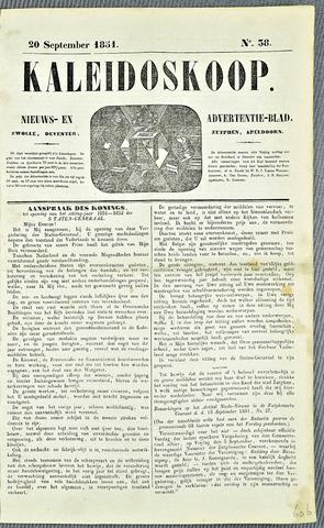 De Kaleidoskoop 1851-09-20