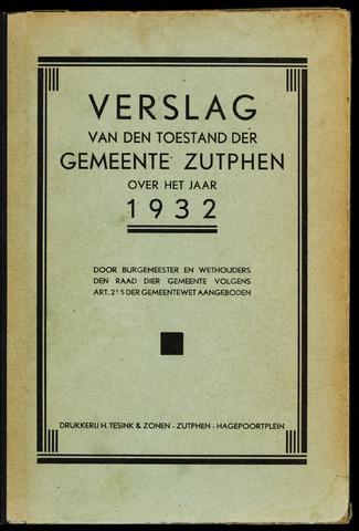 Jaarverslagen gemeente Zutphen (1851-1945) 1932-12-31