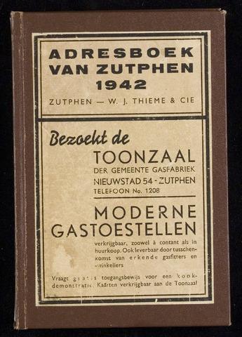 Adresboeken Zutphen 1942
