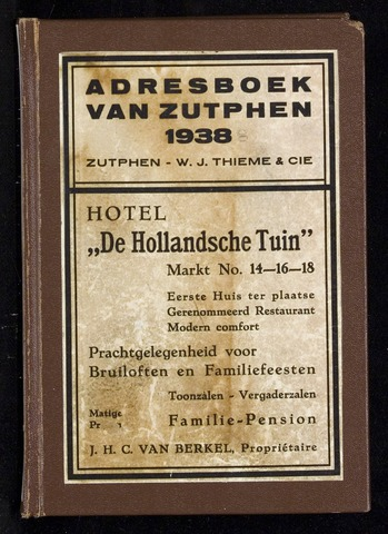 Adresboeken Zutphen (1863-1967) 1938-12-31