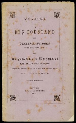 Jaarverslagen gemeente Zutphen 1872-12-31