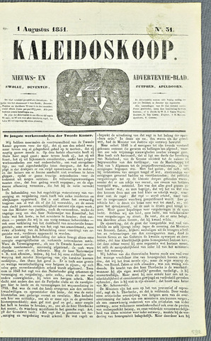 De Kaleidoskoop 1851-08-01