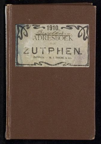 Adresboeken Zutphen 1910
