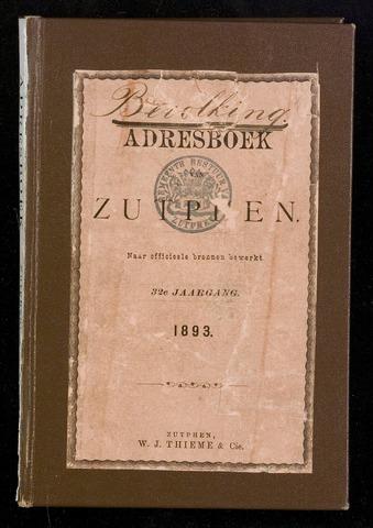 Adresboeken Zutphen (1863-1967) 1893-12-31