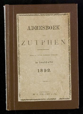 Adresboeken Zutphen 1892