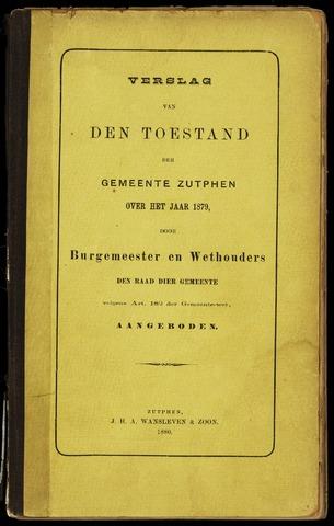 Jaarverslagen gemeente Zutphen 1879-12-31