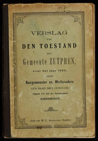 Jaarverslagen gemeente Zutphen (1851-1945) 1909-12-31