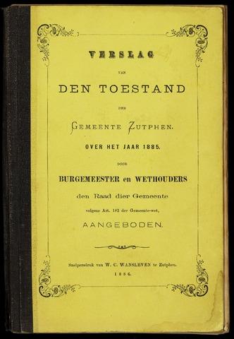 Jaarverslagen gemeente Zutphen (1851-1945) 1885-12-31