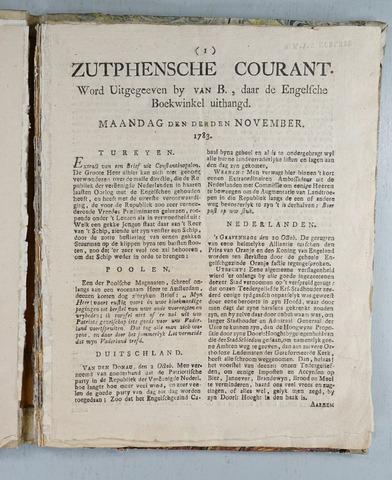 Zutphense Courant 1783