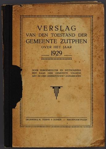 Jaarverslagen gemeente Zutphen (1851-1945) 1929-12-31