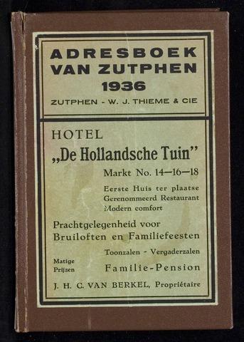 Adresboeken Zutphen 1936