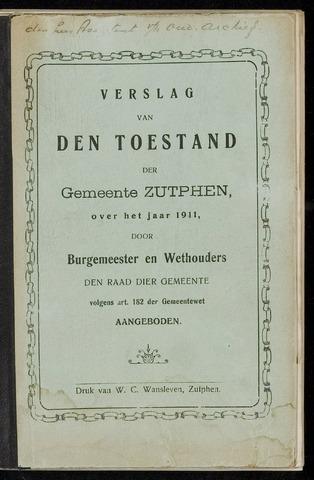 Jaarverslagen gemeente Zutphen 1911-12-31
