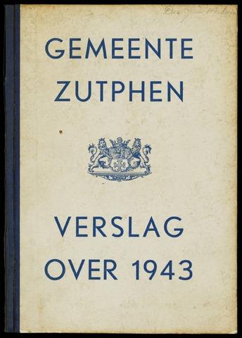 Jaarverslagen gemeente Zutphen (1851-1945) 1943-12-31