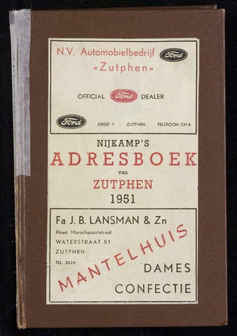 Adresboeken Zutphen 1951