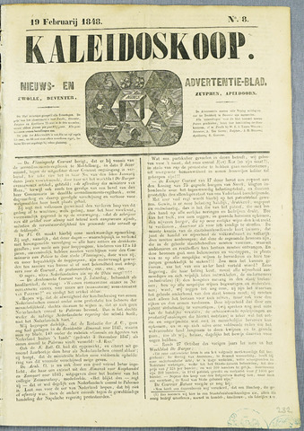 De Kaleidoskoop (1846-1851) 1848-02-19