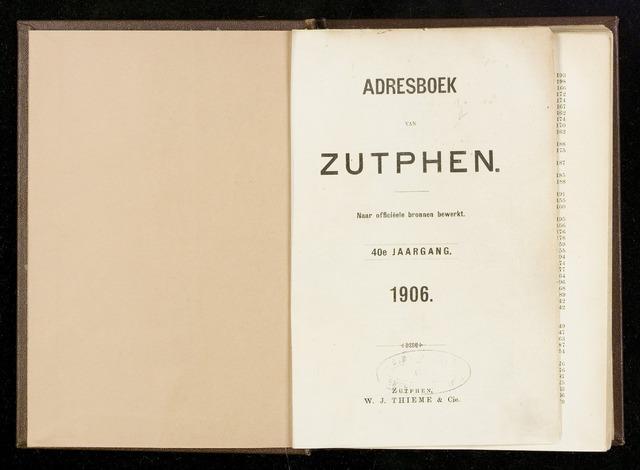 Adresboeken Zutphen 1906