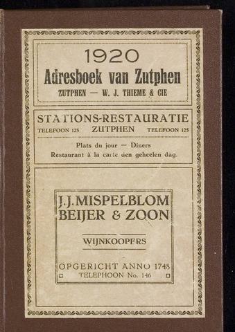 Adresboeken Zutphen 1920-12-31
